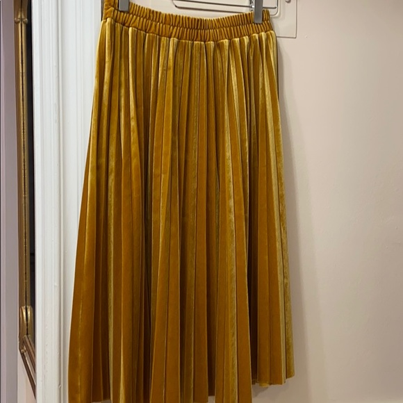 Chelsea28 Dresses & Skirts - Golden Pleated Skirt
